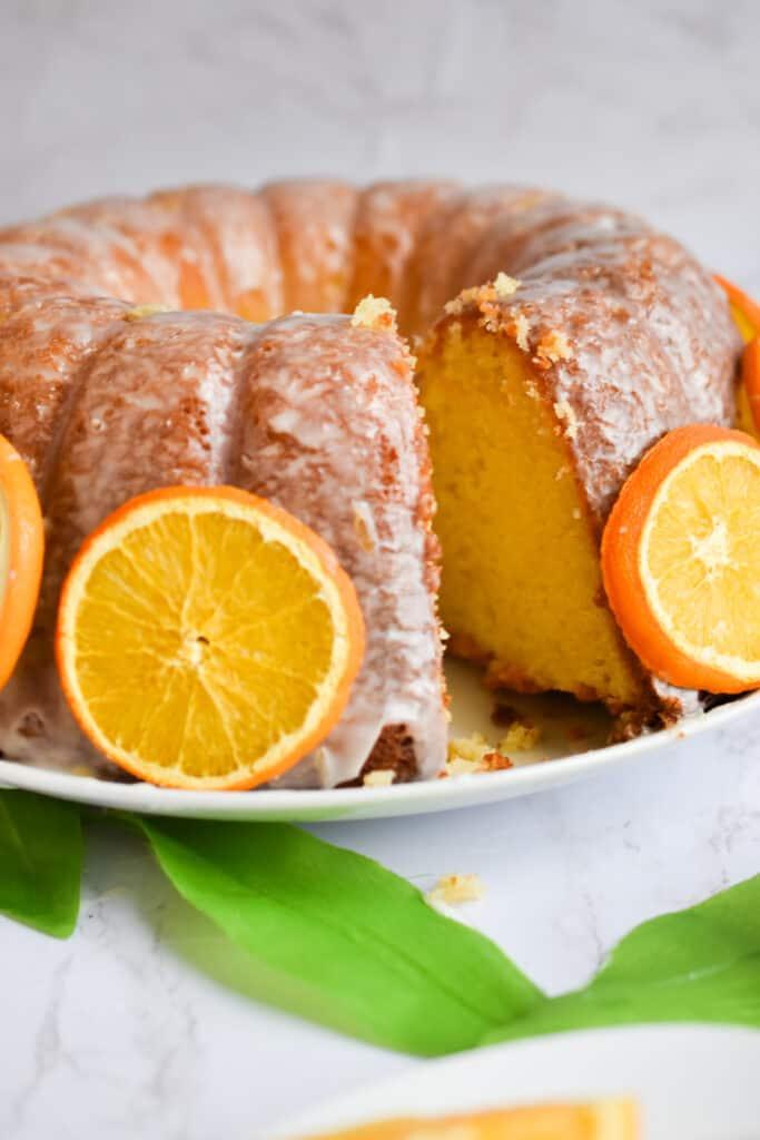 Full Orange Bundt Cake