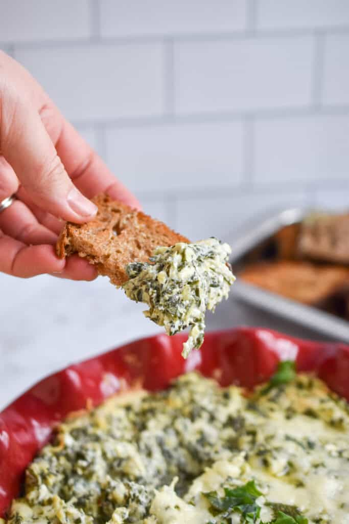 Dipping into Spinach and Artichoke Dip