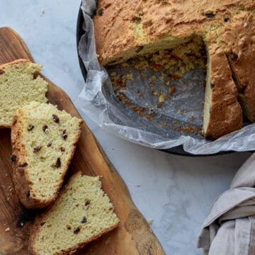 Sliced Easy Irish Soda Bread