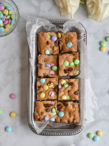 Brown Butter Blondies ready to be served