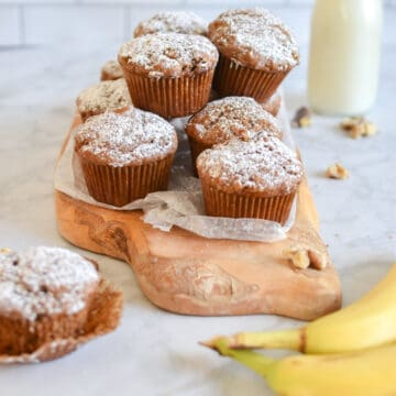 sourdough discard banana muffins
