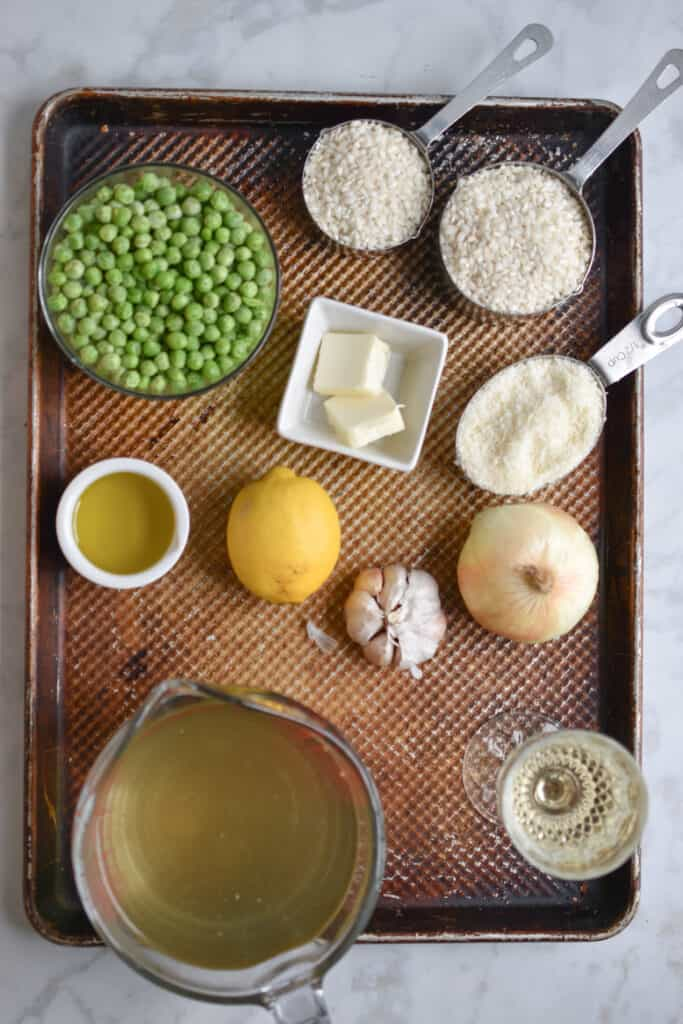 Ingredients for the Spring Pea Risotto