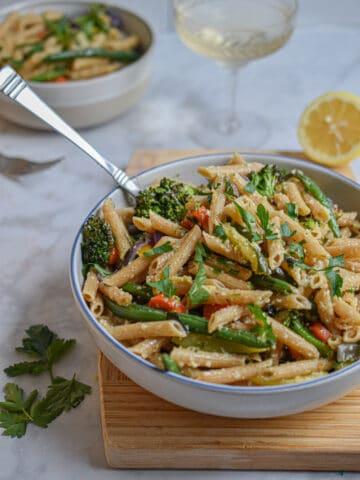 Easy Whole Wheat Pasta Primavera