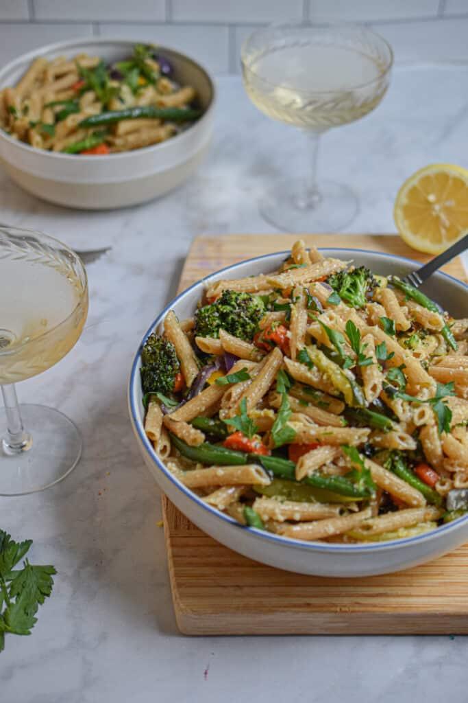 How to make whole wheat pasta primavera