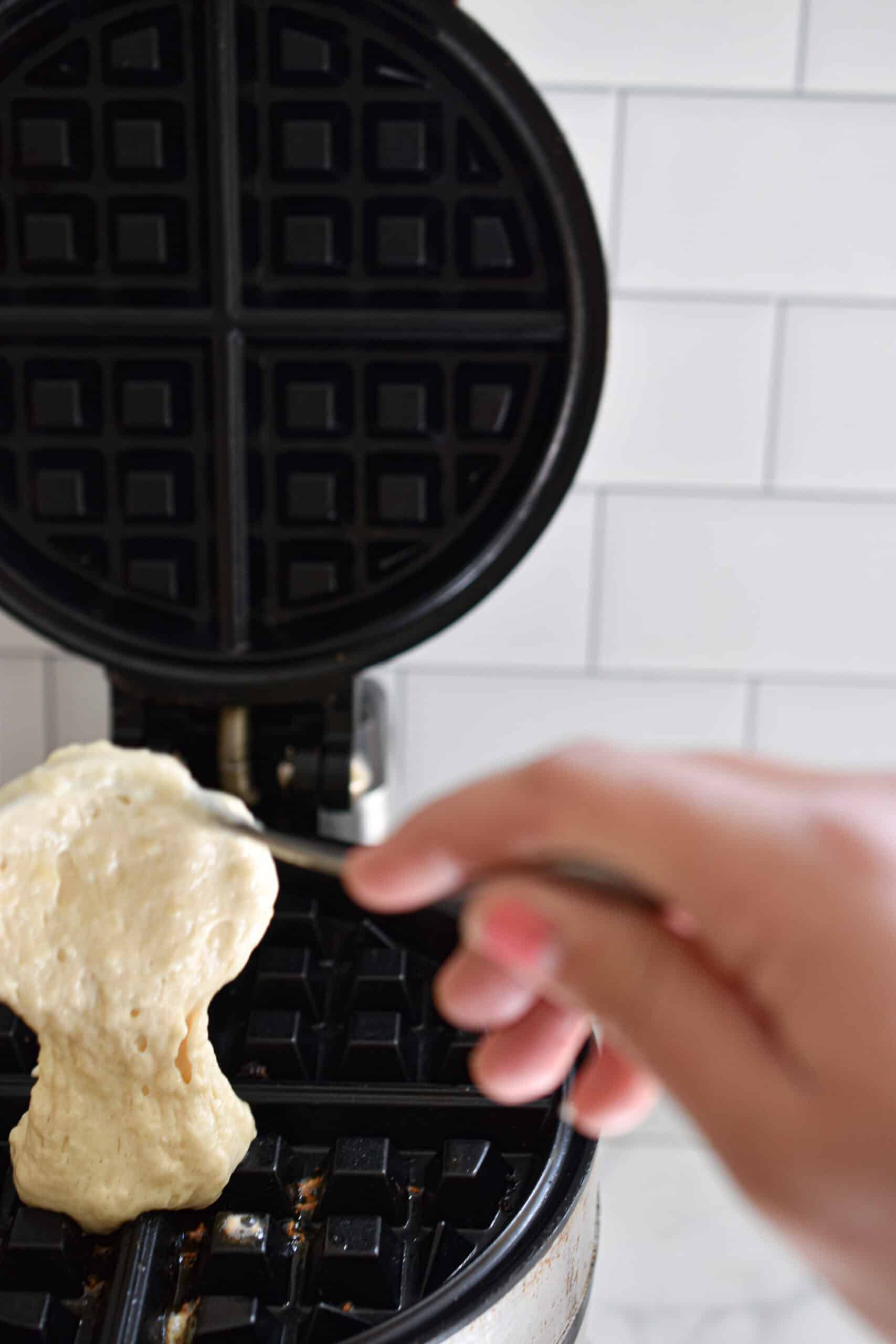 Add the batter to the waffle iron