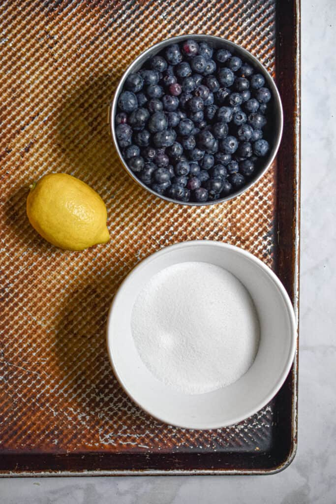 Ingredients for the Instant Pot Blueberry Jam