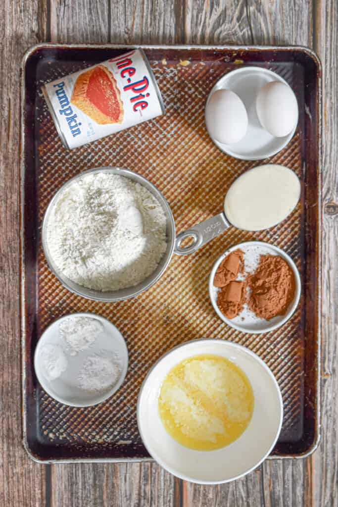 Ingredients for the Pumpkin Sourdough Muffins